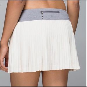 RARE Lululemon Pleat to Street White Tennis Skirt
